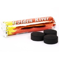 CARBÓN AUTOENCENDIDO GOLDEN RIVER 33MM - PACK 10 UNIDADES