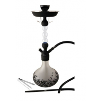 Shisha Horus Cristal Incoloro/Negra con 1 Boquilla