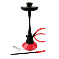 Shisha Horus de Cristal Roja/Negra con 1 Boquilla. Diseño