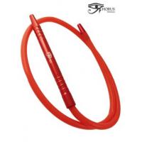 Manguera Roja para Shisha Horus en Aluminio Liso y Silicona